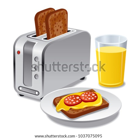 breakfast with toasts
