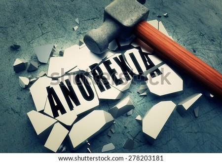 Breaking Anorexia  - stock photo
