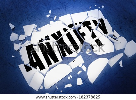 Breaking anxiety - stock photo