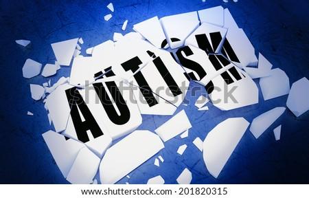 Breaking autism - stock photo