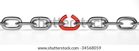 Breaking Chain - stock photo