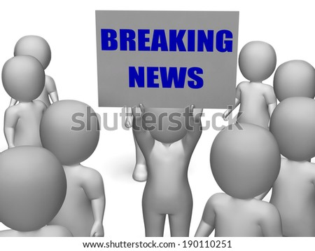 breaking news board character meaning latest stock illustration