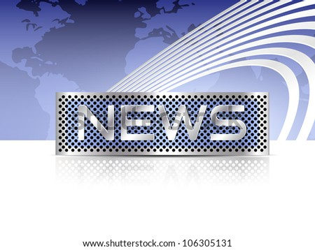 Breaking news - newsletter template with world map background