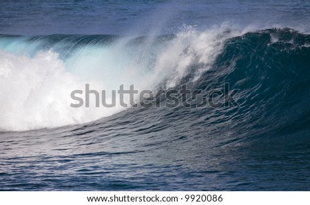 Breaking ocean wave spotted at Puerto de la Cruz, Tenerife, Canary Islands