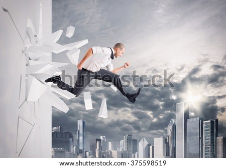 Breakthrough - stock photo