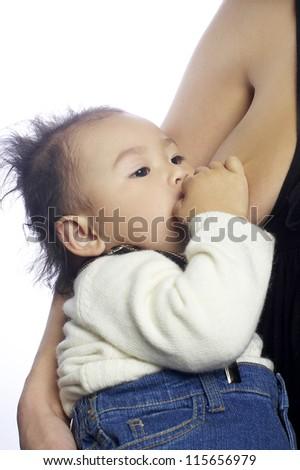 breastfeeding - stock photo