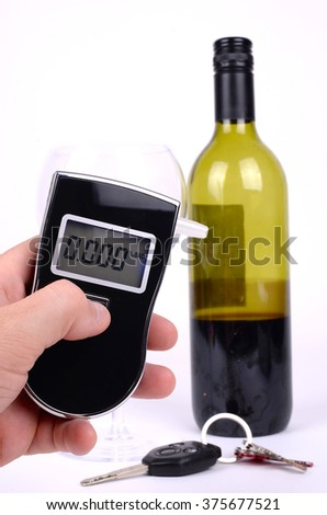 Breathalyzer Test - stock photo