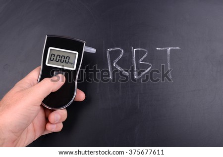 Breathalyzer Unit - stock photo
