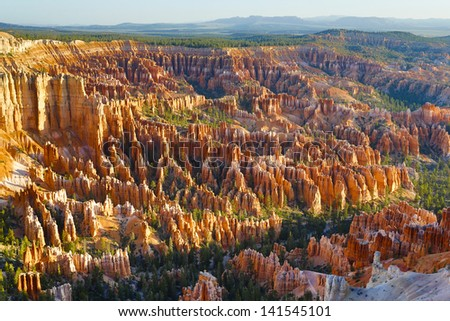 Breathtaking view of Bryce Canyon - stock photo