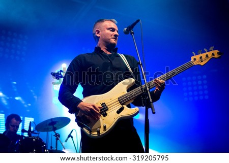 BREDA, THE NETHERLANDS - SEPTEMBER 20, 2015 - Joe Sumner of Fiction Plane performs live on stage at Breda Barst festival