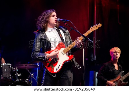 BREDA, THE NETHERLANDS - SEPTEMBER 20, 2015 -Lucas Hamming performs live on stage at Breda Barst festival