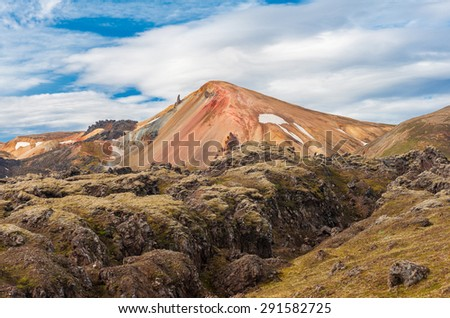 Brennisteinsalda mountain is one of the most beautiful and multicolored volcanos in the area of Landmannalaugar, but also in the whole Iceland.