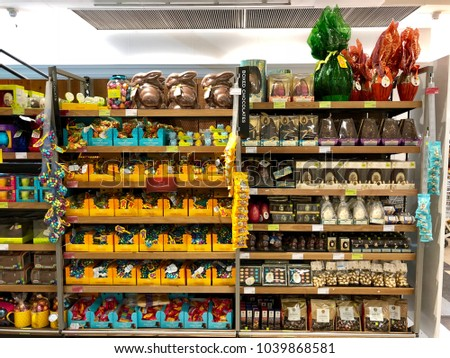 Marks and spencer stock images royalty free images vectors brent cross london march 6 2018 easter chocolate products for sale at negle Gallery