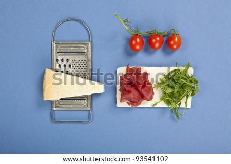 bresaola wrap sandwich - stock photo