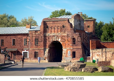 BREST, BELARUS - AUGUST 20, 2012: Brest Fortress located on the territory of Belarus in Brest.