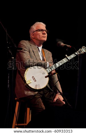 BREVARD, NC - SEPT. 11:  Steve Martin, makes a surprise, unannounced appearance at the country Mountain Song Festival on  Sept 11, 2010 in n Brevard, NC. - stock photo