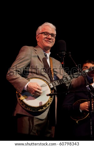 BREVARD, NC, USA - SEPT 11: Steve Martin, makes a surprise, unannounced appearance at the Mountain Song Festival in Brevard, NC on Sept. 11, 2010. - stock photo