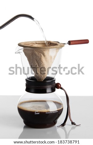 Brew coffee in chemex - stock photo