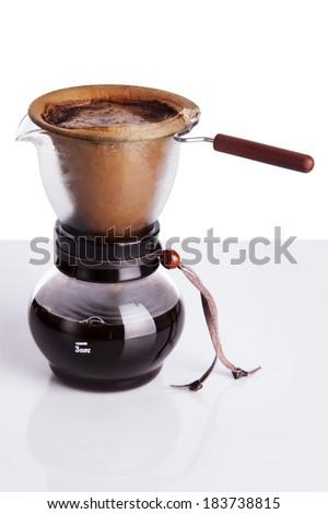 Brew coffee in chemex - stock photo