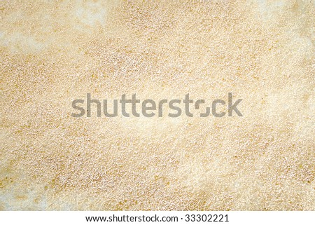 Brewers Yeast fermenting on top of home brew beer wort - stock photo