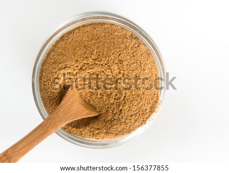 Brewers Yeast Supplement on White Background - stock photo
