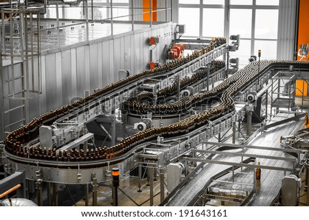 brewery interior - stock photo