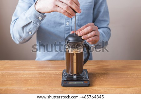 french press coffee stock images royalty free images vectors shutterstock. Black Bedroom Furniture Sets. Home Design Ideas