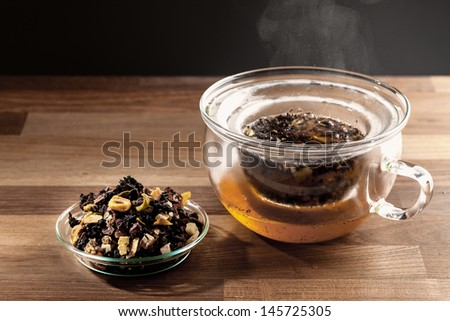 brewing tea - stock photo