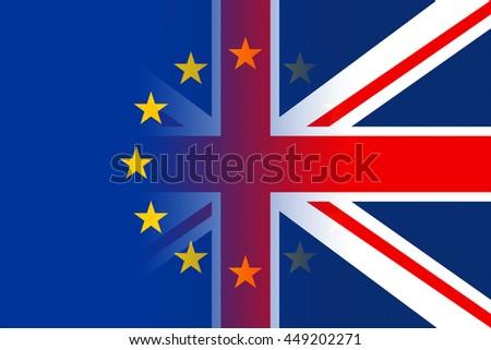 Brexit Flags Representing Patriotic Britain Euro And Patriotism - stock photo