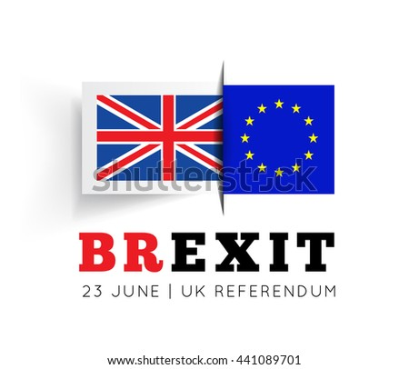 Brexit illustration - stock photo