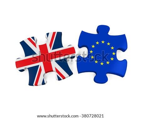 Brexit Puzzle Pieces - stock photo