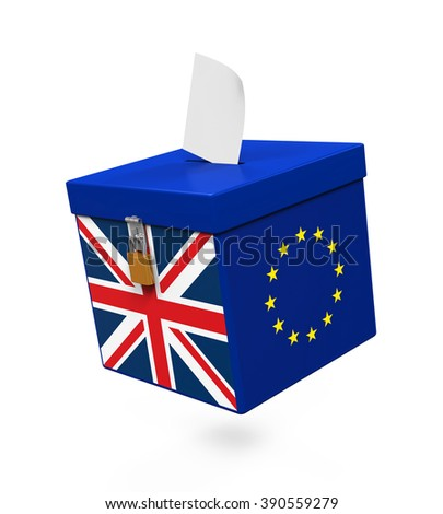 Brexit Referendum Illustration - stock photo