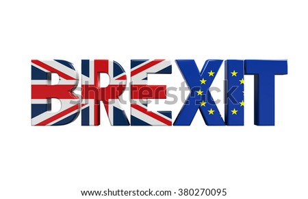 Brexit Text Isolated - stock photo