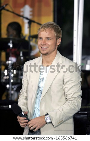 Brian Littrell on stage for NBC Today Show Concert Series with the BACKSTREET BOYS, Rockefeller Center, New York, NY, June 10, 2005