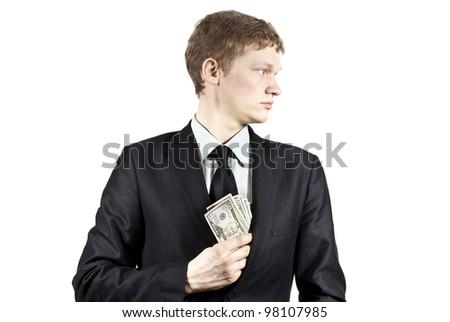 bribe money - stock photo