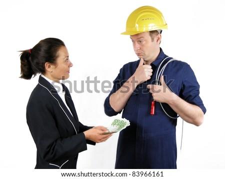 Bribery - stock photo