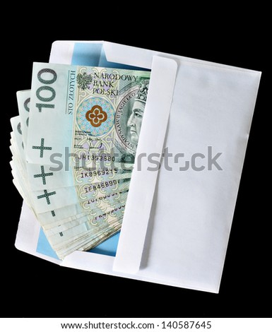 Bribery concept envelope with money - stock photo