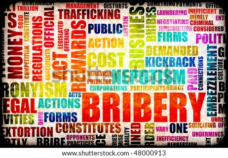 Bribery in the Government in a Corrupt System - stock photo