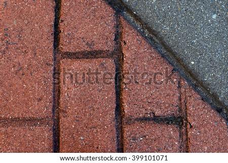 Brick and asphalt background  - stock photo