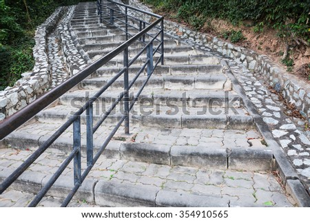 Brick and cement stone stair
