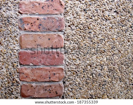 Brick and Pebble Background - stock photo