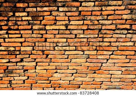 Brick block wallpaper - stock photo
