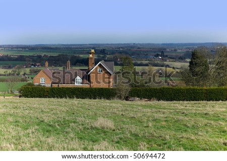 brick built house in countryside