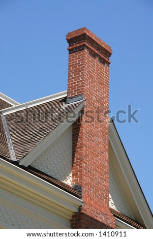 Brick chimney on 19th century farmhouse, Ardenwood Historic Farm, Fremont,  California
