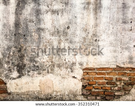 Brick,concrete weathered grunge wall background - stock photo