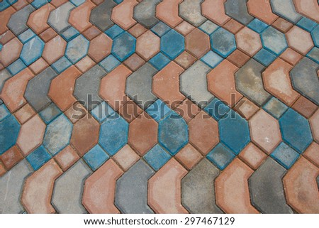 Brick footpath background - stock photo