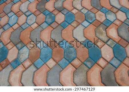 Brick footpath background - stock photo