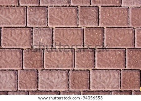Brick footpath background. - stock photo
