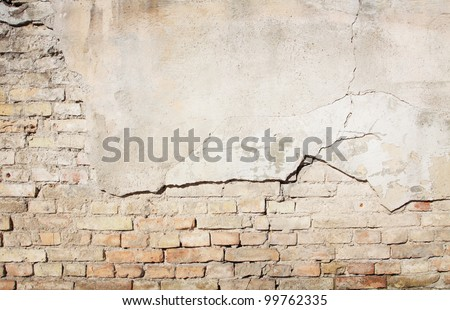 Brick grunge wall background - stock photo