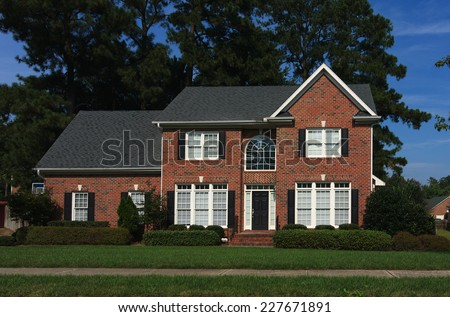 Brick House in Raleigh - stock photo